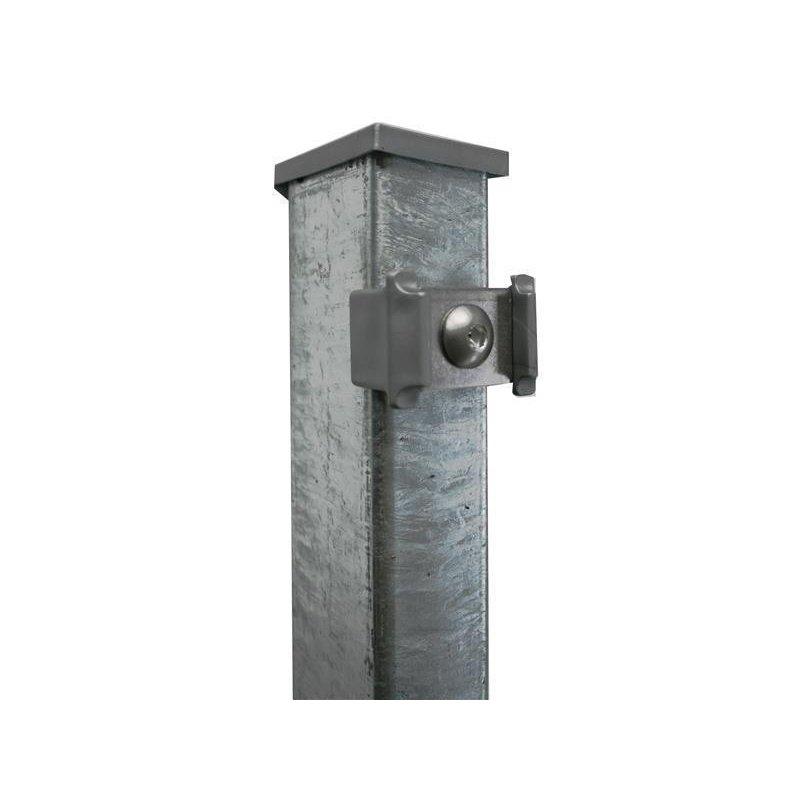 Turbo Zaunpfosten für Doppelstabmatten mit angeschweisster Bodenplatte LJ09
