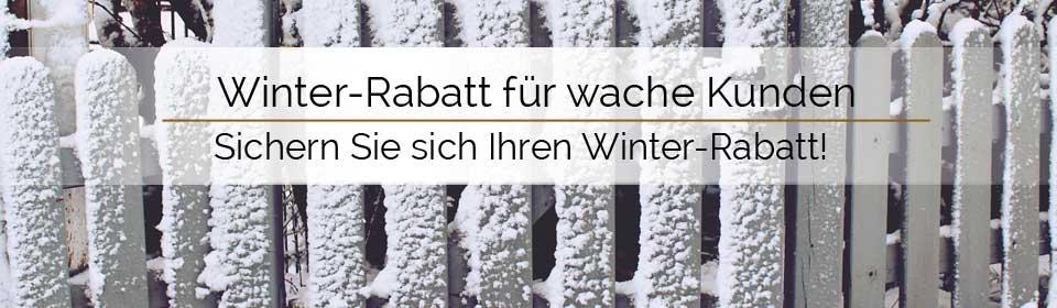 Winterrabatt sichern und sparen