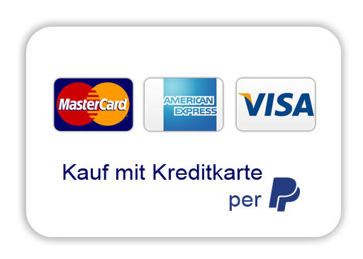 Kauf mit Kreditkarte per Paypal